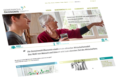 Webseite Gemeinwohlökonomie