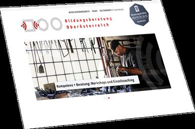 Website Bildungsberatung Oberösterreich