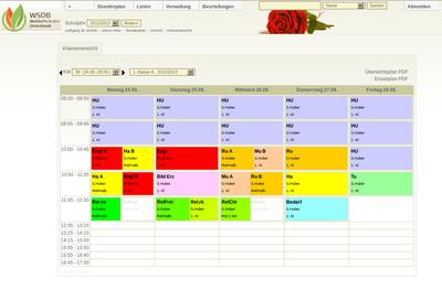 WSDB Stundenplan