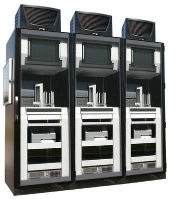 CD/DVD/Blu-Ray Robot cluster